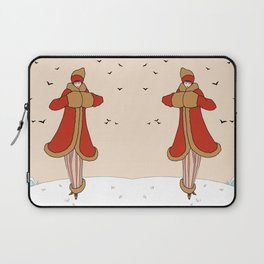 Art Deco Lady: BERNADETTE in Red and Gold Laptop Sleeve