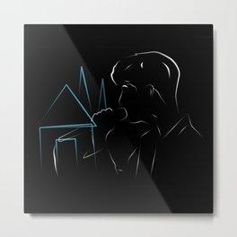 Troye in Blue Neighbourhood Metal Print