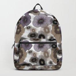Brown-gray flowers Backpack