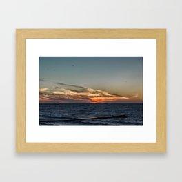 Summer sunset on lake Ontario Framed Art Print