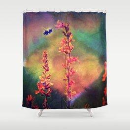 Bee N Wildflowers Diamond Earth Tones Shower Curtain