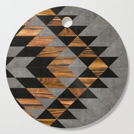 Urban Tribal Pattern No.10 - Aztec - Concrete and Wood Cutting Board