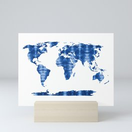 Shibori Map of World 11 Mini Art Print