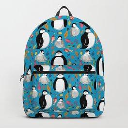 Penguin pattern blue-green Backpack