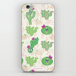 Cactus Cacti with Faces Ladies Cute funny cell phone iPhone Skin