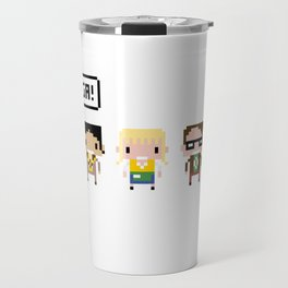 The Big Bang Theory Pixel Characters Travel Mug