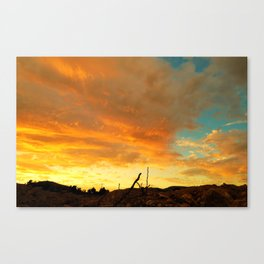 The Golden Shield Canvas Print