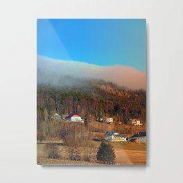 Clouds over the mountains | landscape photography Metal Print