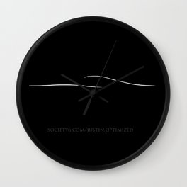 Minimalist Wave - inverted Wall Clock