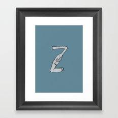Letter Z Framed Art Print