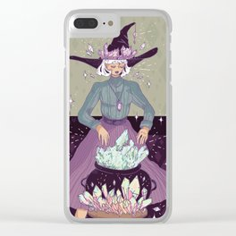 Crystal Witch Clear iPhone Case