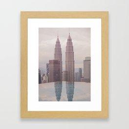 Petronas Twin Towers Kuala Lumpur Framed Art Print