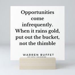 38  Warren Buffett Quotes   190823 Mini Art Print