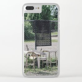 party is over Clear iPhone Case