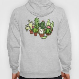 Green - Cactus and Hedgehog Hoody