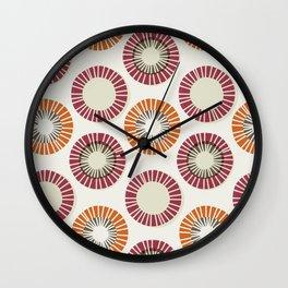 Circles 1 - Red & Orange Wall Clock