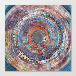 LA TURBINA MANDALA ART Canvas Print