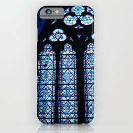Notre Dame Stained Glass - Interior iPhone Case