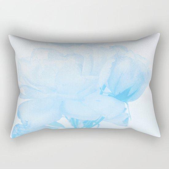 Gentleness #2 - #Soft #Blue #Rose #decor #art #society6 Rectangular Pillow