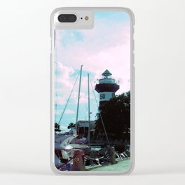 A Busy Harbour Clear iPhone Case