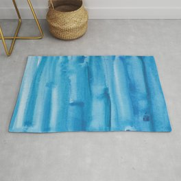 4   |  190408 Blue Abstract Watercolour Rug