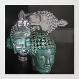 Scattered Buddhas Canvas Print