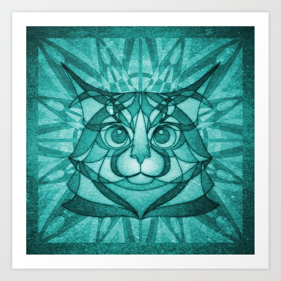 The Forest Maine Coon Art Print