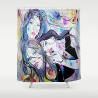bond Shower Curtains featuring Indissoluble Bond by CinziaSonia