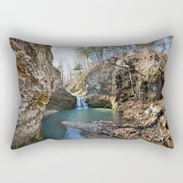 Alone in Secret Hollow with the Caves, Cascades, and Critters - Approaching the Falls Rectangular Pillow