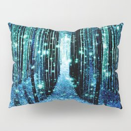Magical Forest Teal Turquoise Pillow Sham
