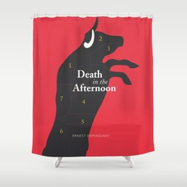 Ernest Hemingway book cover & Poster, Death in the Afternoon, bullfighting stories Shower Curtain