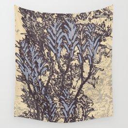 Cream Tea Blue Wall Tapestry