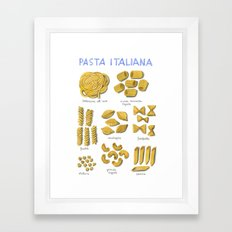 pasta italiana Framed Art Print