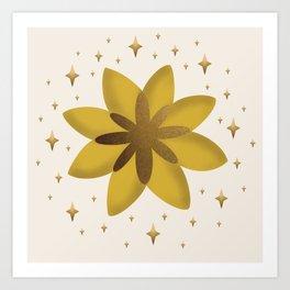 Power Sun Flower Art Print