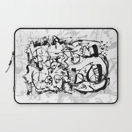 Hard Times - b&w Laptop Sleeve