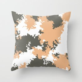 Camouflage mountain 1 Throw Pillow