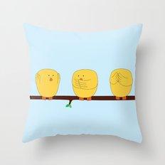 See no evil, Hear no evil, Speak no evil Throw Pillow