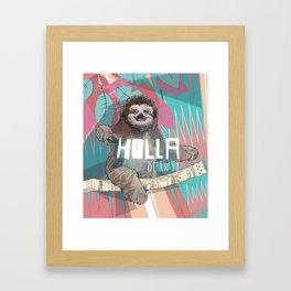 Holla | Sloth Framed Art Print