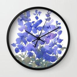 Beautiful Blue Delphiniums Wall Clock
