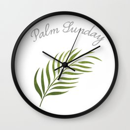 Palm Sunday Leaf Wall Clock