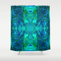 stained glass Shower Curtains featuring Stained-glass.  by Assiyam