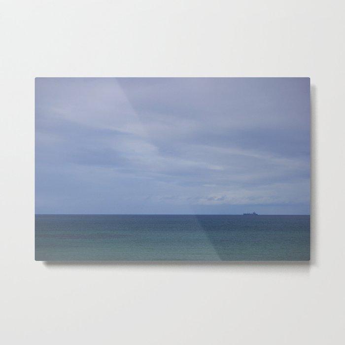 Ship on the ocean Metal Print