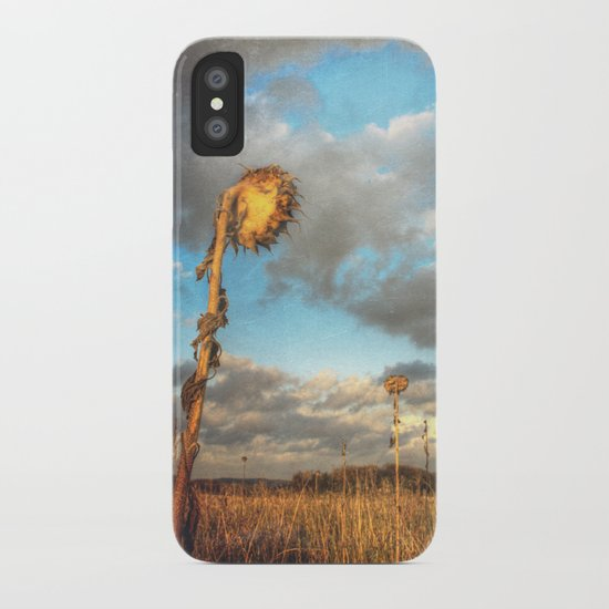 Field of lost Souls - Withered Sunflowers iPhone Case