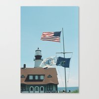 maine Canvas Prints featuring Maine by Jessica Krzywicki