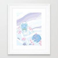 yeti Framed Art Prints featuring Yeti by Scott Hallett
