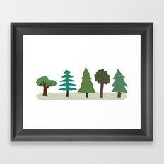 Tree Design Framed Art Print