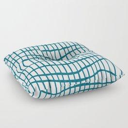 Net Blue on White Floor Pillow