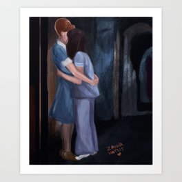 Doorway Kiss Art Print
