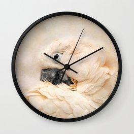 Preening Wall Clock