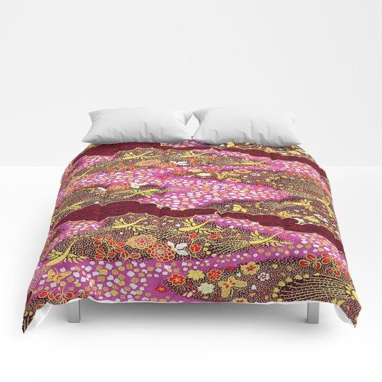 Intricate Yuzen Pattern Comforters